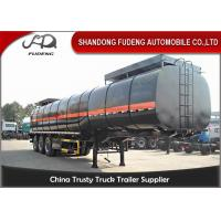 China 33000 Liters Asphalt Tank Trailer With Insulting Layer , Carbon Steel Tanker Trailer on sale