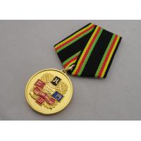Best Soft enamel Custom Medal Awards with Gold Plating Foggy Paint Special Ribbon wholesale