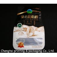 Best Glossy Surface Stand Up Pouches No Zipper Food Grade Shaped Pouch With Euro Hole wholesale