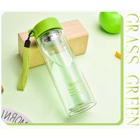 Best Insulated Shatterproof Green Double Wall Glass Water Bottle Healthy For Drink wholesale
