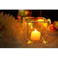Best 7 oz Square Thick modern glass candle holders / 230ml glass jar candle holders wholesale