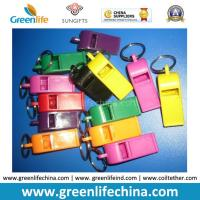 Best Muti-Colors Good Quality Plastic Promo Whistle Gifts w/Split Key Ring wholesale