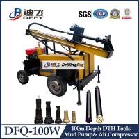 Best 100m DFQ-100W water well rotary drilling rig Machines wholesale