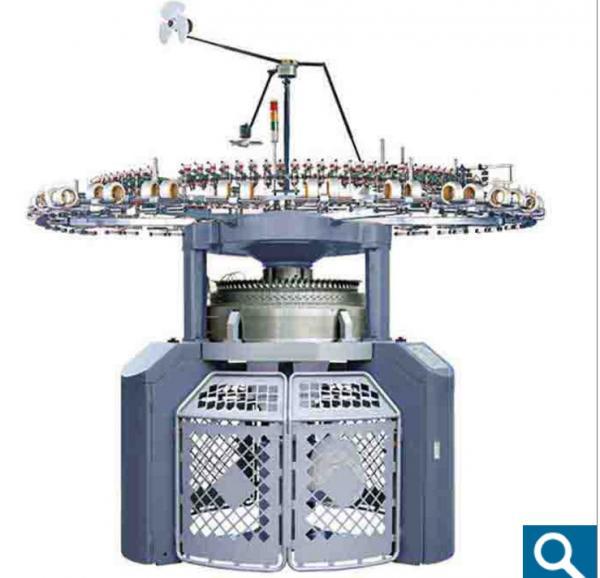 Cheap Automatic Double Jacquard Knitting Machine , Mattress Tick Fabric Knitting Machine for sale