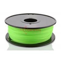 Best Fluorescent Green 3D Printer ABS Filament Spool , Cubify Makerbot Filament wholesale
