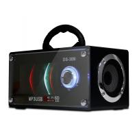 China Wood Portable Stereo MP3 Player Speakers With Remote Control # JS309 on sale