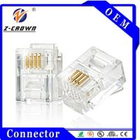 China Cat3 Cat5 Cat5e Cat6 Unshielded/Shielded Connector RJ45 And RJ11 on sale