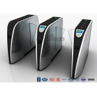 Cheap Standard Electric Access Control Turnstile Entry Systems Flap Barrier Gate SS High Speed for sale