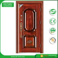 Best China top suppliers house main gate designs steel security door single door for residential wholesale