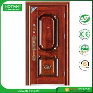 Best China top suppliers house main gate designs steel security door single door for residential wholesale