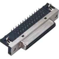 Buy cheap 1.27 Spacing scsi 50 pin connector 90 Degrees Insert Computer Pin Connectors from wholesalers