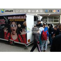 China 9 Motion Seats Mobile Trailer 5D Movie Theater , Truck Mobile 5D Cinema on sale
