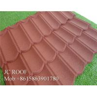 Best Colorful Stone Chip Coated Metal Roof Tiles / Steel Roofing Tile Sheet wholesale