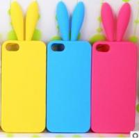 Best china supplier Customized rabbit ear silicone mobile phone case wholesale