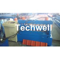 Best 0.3 - 0.8 mm Thick Roof Sheet Cold Roll Forming Machine with PLC Computer Control wholesale