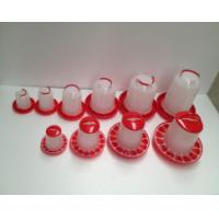Poultry chicken feeders and drinkers, plastic waterer drinker, commercial red