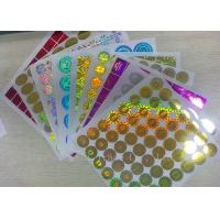 Quality Anti - Dirty Security Hologram Stickers Multi Color In Small Round Shape wholesale