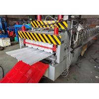 Best 5kw Roof Tile Roll Forming Machine , Smooth Cutting Style Tile Roof Machine wholesale