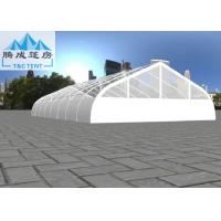 Best 20x40m White PVC Curve Clear Aluminum Frame Tent For Wedding 500 People Seater Wind Resistant wholesale