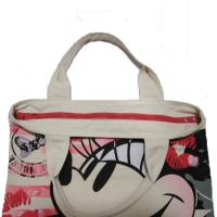 Best Waterproof Shopping  Nylon Tote Bag 420D Mickey Pattern With Zipper wholesale