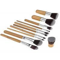 Cheap Handmade Face Bamboo Makeup Brushes Natural Bristle With Hot Stamping Logo for sale