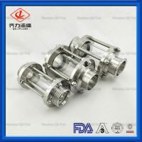 China Compact In Line Tank Sight Glass  Straight Type Weld Clamped Threaded End on sale