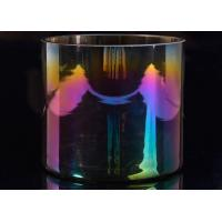 Best Popular Decor Candle Holder Glass Replacement Luxury Iridescent Straight Side wholesale