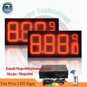 8 LED GAS STATION Electronic Fuel PRICE SIGN DIGITAL CHANGER