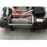 Best 12v Truck Heavy Duty Electric Winch 8.3mm Steel Wire 9500lbs For Off Road wholesale
