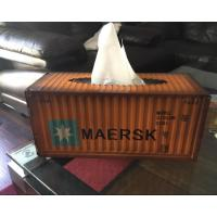 Best Metal Shipping Container Tissue Box Cover (Orange Color) Multifold Paper Towel Dispenser wholesale