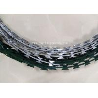 Buy cheap 450mm Hot Dip Razor Barbed Wire Galvanized Steel BTO-22 For Security Fence from wholesalers