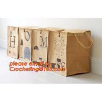 China jute dirty clothes cube storage basket, Collapsible Rectangular Fabric Clothes Storage Toy Organizer Pet Toy Storing Jut on sale