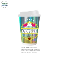 China Disposable 10Oz Double Wall Paper Cup For Hot Drinks on sale