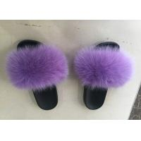 Best Dyed Color Ladies Fluffy Slippers For Summer , Spring Cute Womens Slippers  wholesale