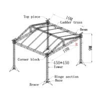 450x450mm aluminum truss system, aluminum spigot truss for outdoor show