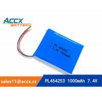 Best 7.4V 1000mAh 454253 lithium polymer battery pack li-ion rechargeable battery for GPS wholesale