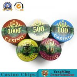 RFID UV Clay Casino Poker Chip Set 760pcs  Three - Layer Acrylic Shell Pattern