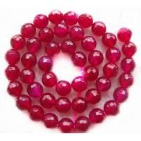 Best 10mm Natural Pink Agate Gemstone Beads Faceted Round Pink Semi Precious Gem Beads wholesale