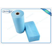 Best 100% Flesh PP Nonwoven Bed Sheet , Medical Bed Sheets Blue Color Packing In Roll wholesale