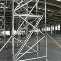 Cheap Hot Dip Galvanized Frame Scaffolding System , Strong Silver Ladder Frame Scaffolding for sale