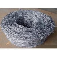 Best Green Power Coated High Tensile Barbed Wire Reverse Twist , Normal Twist wholesale