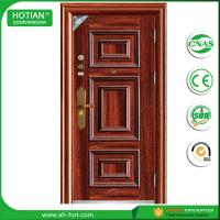 Best Main entrance steel door main gate designs security front door in metal skin wholesale