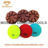 Best 3 Inch Dry Use Hybrid Copper Floor Polishing Pads for Concrete wholesale