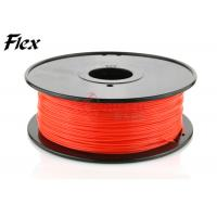 Cheap Ultimaker Red flexible filament in Plastic Rods , NINJA Flex filament for sale