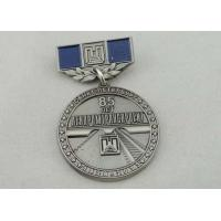 Best 32mm Zinc Alloy Custom Medal Awards Soft Enamel , Antique Nickel Plating wholesale