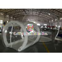 Best 0.9mm PVC Inflatable Airtight Tent With Pipe , Transparent Backyard Camping Tent wholesale