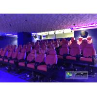 Best JBL Sound System 6D Movie Theater Black / Red Motion Chairs For Shopping Mall wholesale