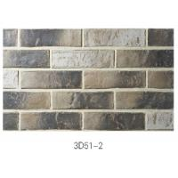 Quality 3D51-2 Clay Thin Veneer Brick Low Water Absorption For Interior /Outdoor Brick Veneer wholesale