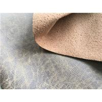 Pepper Bonded Leather Material For Car Seats , Recycled Leather Fabric