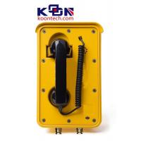 Best Aluminium Alloy Weatherproof  Line Powered Telephone Auto Dial Yellow wholesale